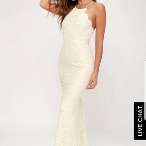 "[never worn] Lulu's Zenith lace ""maxi"" dress"